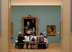Han van Meegeren's Emmausgangers in een museum