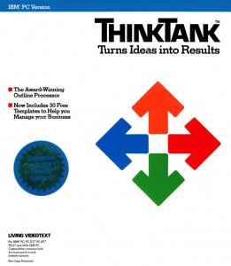 Voorkant van doos ThinkTank, een outliner uit 1985