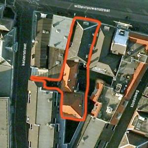 Google Earth view van ouderlijk huis