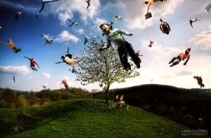People Flying - fotomanipulatie door Mario Sánchez Nevado
