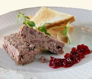 Paté met cranberrysaus