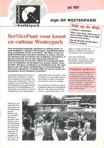 Een willekeurige uitgave van Kijk op Westerpark