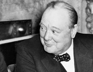 Churchill geamuseerd, beste mop ter wereld