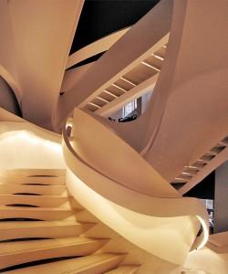 trappen in Armani winkel in New York